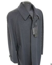 Men's Italian Cashmere 34 Coat - Size 48 L-XL -  $795 Retail New Made in Italy