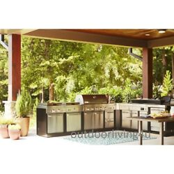 Great Outdoor Kitchen w GRILL SINK REFRIGERATOR STOVE GRIDDLE