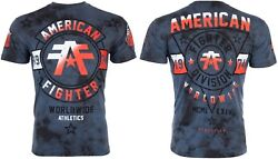 American Fighter Mens S S T Shirt SILVER LAKE Navy Blue Crystal Wash S 3XL $40 $22.99