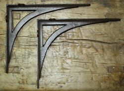 4 Cast Iron Antique Style ANGLE Brackets Garden Braces Shelf Bracket CABLE $35.00