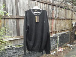 Roberto Cavalli Men's Sweater Black Size L 100% Wool Made in Italy