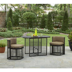 Better Homes and Gardens Murray Hill 3 Piece Outdoor Bistro Set Table and Chairs