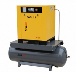 First Air FAS11T 15-HP 53-Gallon Rotary Screw Air Compressor (230V 3-Phase 15...