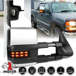 [Right]Passenger Side Power+Heated LED Signal Towing Mirror for 03-07 Silverado