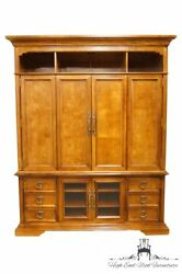 STANLEY FURNITURE Contemporary Oak and Burled Walnut 72
