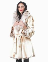 fur coat sheared mink woman with dyed fox lynched in