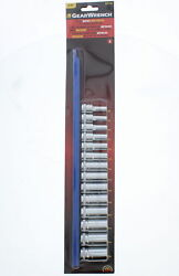 GearWrench 80554S 38 Inch Drive 6 Point Mid Length Socket Set Metric 14 Piece $31.57