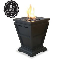 Fire Lp Gas Pit Tabletop Column Uniflame Patio Outdoor Fireplace Propane Backyar