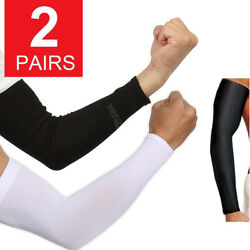 2 Pairs UV Protection Cooling Arm Sleeve UPF 50 Sun Sleeves For Men Women Unisex
