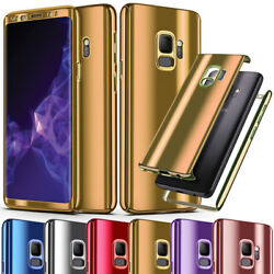 Hybrid 360 Mirror Slim Case For Samsung Galaxy S7 S7 Edge with Screen Protector