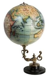G559: Classic Baroque Globe on Bronze Stand After DIDIER ROBERT DE VAUGONDY