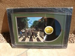 PAUL MCCARTNEY SIGNED ABBEY ROAD BEAUTIFULLY FRAMED LP VINYL JSA LOA