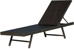 Outdoor Chaise Lounge Chair Backyard Pool Orleans Woven Metal Weather Resistant