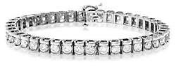 18ct White Gold 7.78ct Diamond Bracelet Appraisal Certificate New