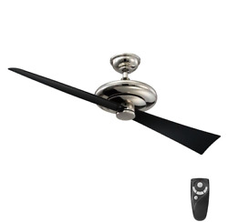 Damp Outdoor Indoor 52quot; 2BLD Airplane Ceiling Fan Remote Elegant Polished Nickel $229.99