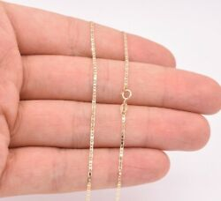 1.2mm Mariner Anchor Link Chain Necklace Real Solid 10K Yellow Gold $49.99