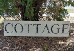 Rustic cottage sign black and white distressed living room decor shabby decor $47.00