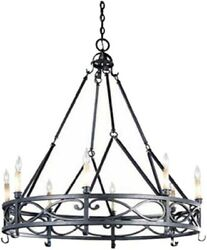 8 Light Chandelier Candle Rustic Ceiling Fixture Kitchen Island Dining Room Home