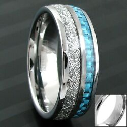 68mm Tungsten Meteorite & Carbon Fiber Band Ring-Engraving Avail. Size 5-13