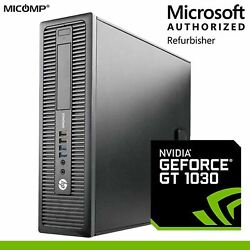 HP Gen4 Gaming Computer Core i5 16GB 500GB HDD Nvidia GT1030 Windows 10 Tower PC $335.00