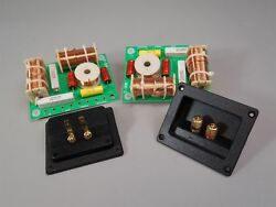 3 Way Crossover Pair High Power 1000W RMS 8 Ohm 12 dB amp; Rectangle Terminal Cups $47.50