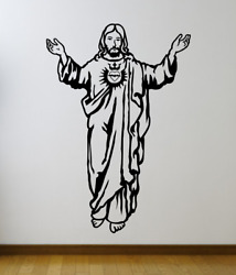 Jesus with arms open decal Vinyl Home Decor Art Decal 22