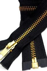 Medium Weight Jacket Zipper YKK #5 Brass Separating  Made in USA