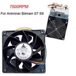 1 7500RPM Cooling Fan Replacement 4-pin Connector For Antminer Bitmain S7 S9 New