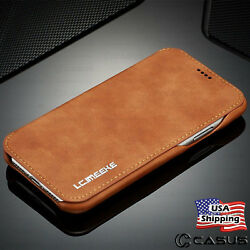 For Galaxy Note 1098 S10S9 Plus Leather Wallet Stand Thin Slim Case Cover
