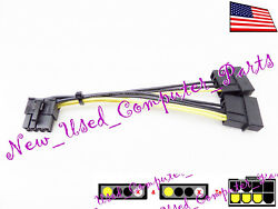 ➨ 12mm Dual 4 Pin Molex to 62 Pin Right Angle Low Profile PCI E Power Cable $12.99