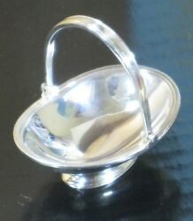 Peter Acquisto Sterling Silver Bread Basket - Artisan Dollhouse Miniature AQ3-20