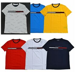 NWT Men#x27;s Tommy Hilfiger Short Sleeve Tino Tee T Shirt Color Block $29.99