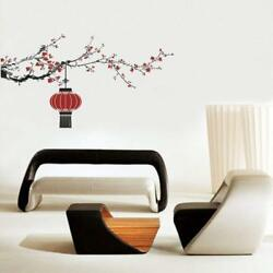 Flower and Chinese Lamps Wall Stickers Removable Decal Home Decor 90 x 160 cm $18.99