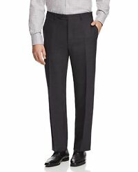 $965 Canali Men#x27;S Gray Wool Classic Fit Flat Front Trousers Pants Italy Us 40w $114.51