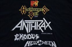 1988 HEADBANGERS BALL MTV t-shirt vtg 80s anthrax euphoria helloween exodus LXL