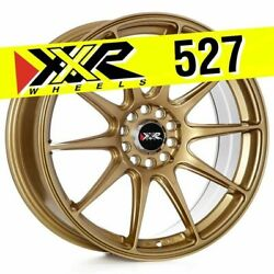 XXR 527 18X8 5X100 5X114.3 +42 GOLD WHEELS (SET OF 4)