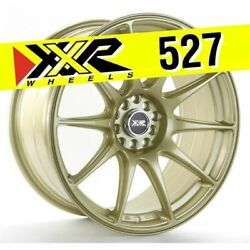 XXR 527 18X8.75 5X100 5X114.3 +35 GOLD WHEELS (SET OF 4)