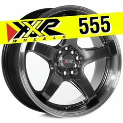 XXR 555 17X8 5X100 5X114.3 +35 CHROMIUM BLACKML WHEELS (SET OF 4)