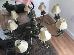 "Beautiful Vintage brass chandelier antique 30"" $599.40"