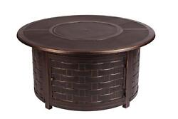 Enclave Woven Aluminum LPG Fire Pit Round Gas Decorative Firepit Outdoor Heater