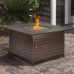 BARTON Outdoor Patio Heater Fire Pit Firepit Square LP Backyard Heating 42000BTU