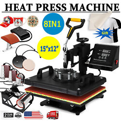 8 in 1 Digital Heat Press Machine Sublimation For T-ShirtMugPlate Hat Printer