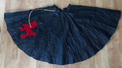 Lot of 6 Black Poodle Skirts Dance Halloween Costume Lots of Color $109.99