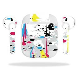 Skin  Decal Protective Cover Wraps for Apple AirPods AirPod sticker Splatter 545