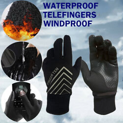 Winter Gloves Men Women Running Warm Cycling Touch Screen 3M Waterproof Insulate $8.69