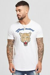 Mens Good For Nothing Savage White T-Shirt (GFN4) RRP. £34.99