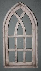 Wooden Antique Style Church WINDOW Frame Primitive Wood Gothic 18 34