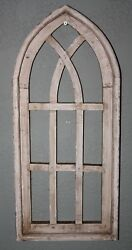 Wooden Antique Style Church WINDOW Frame Primitive Wood Gothic 22 12