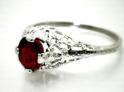 Stunning Art Deco Ring w 1.16ct IGIEGL Cert Untreated RED RUBY 14K White Gold