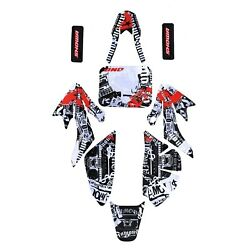 Plastic Sticker Kits Decal Graphic Honda CRF70 CRF80 CRF100 Sticker Sets Wrap US